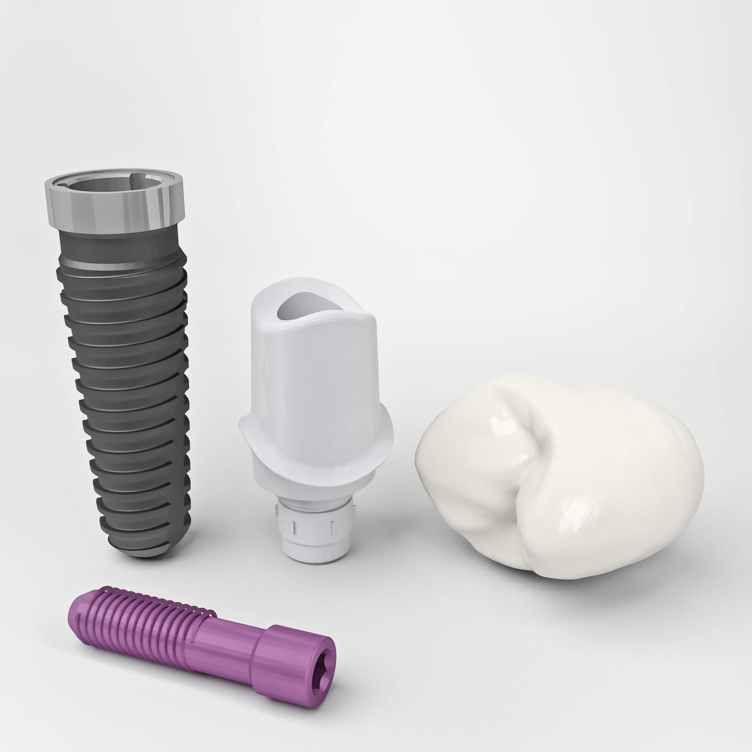 Имплантация зубов и циркониевой коронкой